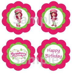 DIY Design Den Strawberry Shortcake birthday party free printables