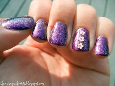 Purple Flakie Nails
