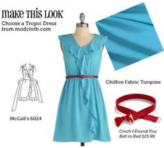 like a look from modcloth or anthropologie?  This website shows you what patterns/fabrics match these looks