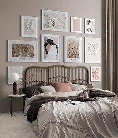 Style At Home, Bedroom Styles, Bedroom Colors, Deco Studio, Nordic Interior, Inspirational Wall Art, Deco Design, Easy Home Decor, Cozy Bedroom