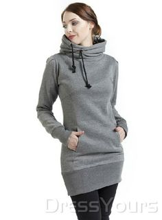 US$71.99 Casual European Style Solid Color Slim Hoodie. #Hoodies #Casual #European #Style