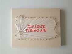 You Should Totally: Make DIY State String Art