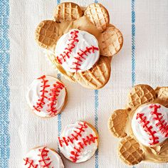 Baseball Glove Cupcakes From Better Homes and Gardens, ideas and improvement projects for your home and garden plus recipes and entertaining ideas.