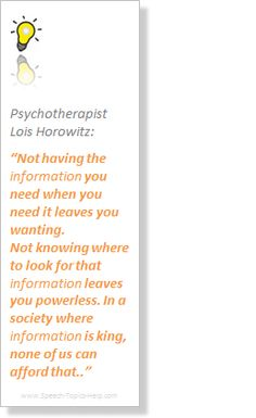 Lois Horowitz speech quote