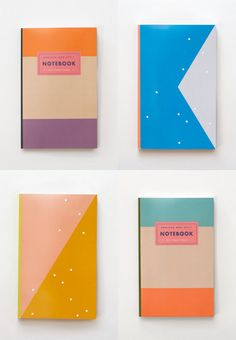 julia kostreva's notebooks daily planners. color blocking genius.