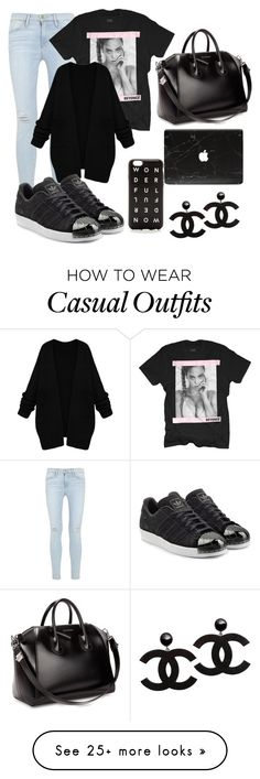 """""""Suggested 60.0"""" by amyvanstein on Polyvore featuring Frame Denim, adidas Originals, Givenchy and J.Crew"""