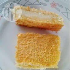 Bolo de fubá cremoso sem farinha @ allrecipes.com.br - Bolo de fubá de…