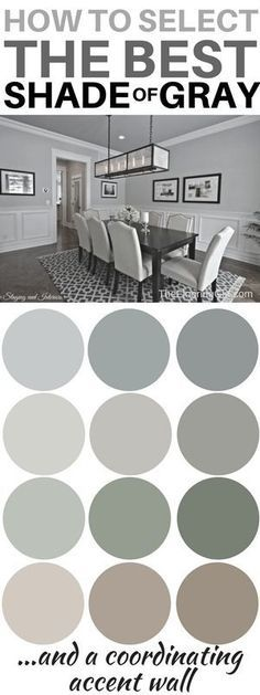 How to choose the best shade of gray paint and a coordinating accent wall. Most popular shades of gray. #gray #Painting #paint #diy #homedecor #decoratingideas