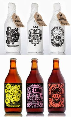 30 Fantastic Beer Labels That Will Make You Want To Have A Drink - Craft beer labels are always a luxury. They are usually spaces where illustrators and designers hav - Beer Crafts, Craft Beer Labels, Bottle Packaging, Brand Packaging, Design Da Garrafa, Kombucha, Packaging Inspiration, Beer Label Design, Beer Brewery