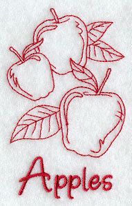 Set of 2 Apples embroidered floursack dishtowels by giftsbydiane