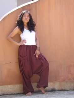 Harem Pants ...Yoga Pants ..Leasuire Pants ...Color by Ablaa