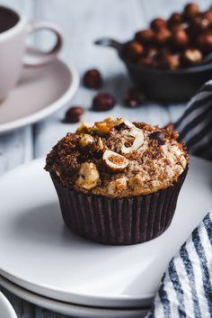 Gluten-Free Dairy-Free Hazelnut Chocolate Chunk Muffins   #sponsored