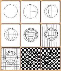 Fru Billedkunst - NY ADRESSE - www.FruBilledkunst.dk: Op art - 2.del: kugler
