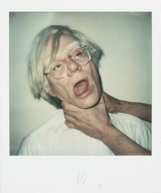 """'Andy being chocked' by Andy Warhol, 1978  #nrwforum """"The #Polaroid Collection"""" MAY 26, 2012 - AUGUST 05, 2012 NRW-Forum Duesseldorf Germany"""