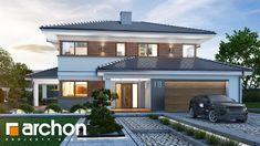 Projekt domu Willa Miranda (G2) - ARCHON+ Luxury Homes Dream Houses, Home Design Plans, Home Fashion, New Homes, House Design, How To Plan, House Styles, Modern, Europe