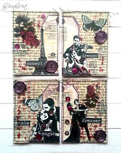 """My shaker ATCs """"Parisian Dreams"""" Welcome again!   Today I would like to show you my latest ATC sets, these I made for some private swaps...     Three Lords in Paris...   A..."""
