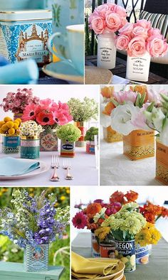 pretty little tin arrangements
