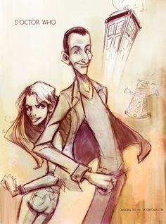 9th Doctor and Rose by SpookyChan on deviantART