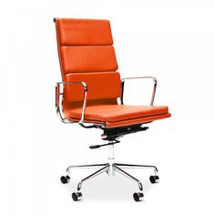 Charles Eames Executive kontorsstol med mjuk dyna – orange