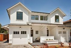 Duplex design Modern Farmhouse Duplex - Heather Young Architects How To Care For Silk Sheets Article Garage House Plans, Family House Plans, Small House Plans, Car Garage, Small Garage, Modern Farmhouse Exterior, Farmhouse Plans, Farmhouse Design, Farmhouse Small