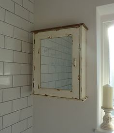 shabby french vintage style mirrored first aid cupboard bathroom cabinet so chic   eBay