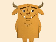 Friendly monster Goatman
