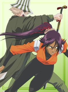 Urahara and Yoruichi by HinataSenpai.deviantart.com THE BEST COUPLE ON BLEACH BUT FUNNY NONETHELESS