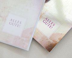 Alles-Gute Karte 10 Stück+Kuvert von Schaller Maria auf DaWanda.com