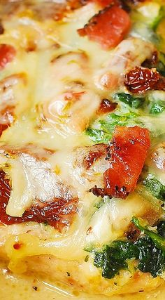 Sun-Dried Tomato, Spinach, and Bacon Chicken (gluten free, comfort ...