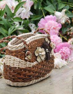 Женские сумки ручной работы. Ярмарка Мастеров - ручная работа. Купить Сумка плетеная. Handmade. Комбинированный, сумка через плечо
