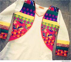 Colorful Jacket Salwar Suit Neck Designs