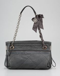 Amalia Quilted Lambskin Shoulder Bag, Medium by Lanvin at Neiman Marcus.