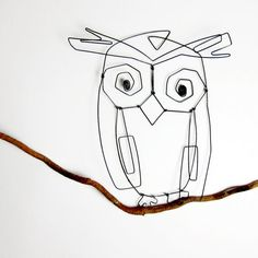 Owl ornament wire sculpture by Life on Wire