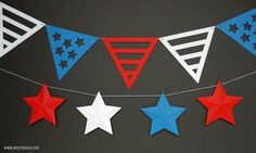 Fast and easy patriotic stars and stripes decorations. www.amyrobison.com/blog #silhouette #independenceday #banner