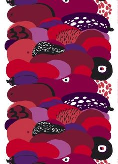 Kurpitsa fabric by Marimekko. Pattern Design by Pia Holm. Textiles, Textile Patterns, Textile Design, Color Patterns, Print Patterns, Pattern Designs, Pattern Illustration, Fabric Wallpaper, Texture Art
