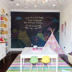 游戏室完美 - 那个黑板墙是太多的乐趣! 通过@steelestreetstudios: