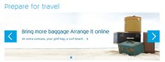 KLM Upselling Banner for bringing more luggage #Web #Banner #Digital #Online #Marketing #Travel #Upsell