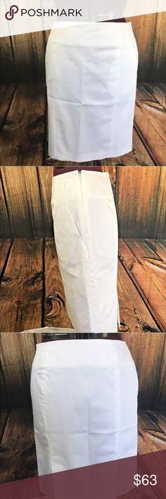 "FABulous Max Mara Pencil Skirt Beautiful skirt from Max Mara   Straight   Side zip   Side entry pockets   Back kick vents   97% Cotton, 3% Spandex   Size 10   Measures 23"" in length   Measures 15.5"" across waist, flat   Beautiful skirt! Max Mara Skirts Pencil"