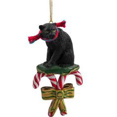Panther Candy Cane Ornament