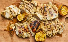 Lemon chicken grilled enjoy by geneviève o gleman Lemon Chicken, Grilled Chicken, Barbecue, Chicken Recipes, French Toast, Grilling, Cooking, Breakfast, Food