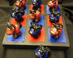 PONIES Polymer Clay Tic Tac Toe Game