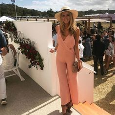 Shop the feed ; absolute stunner @lucybrownless wears our Without You Jumpsuit at the #PortseaPolo / #shop it now for your next event / #keepsakethelabel #keepsakegirl #event #polo #jumpsuit