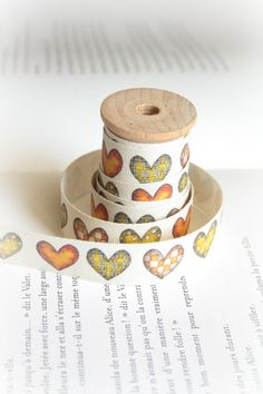 Check Hearts cotton tape by lillalotta on Etsy, $4.95