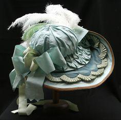 Gorgeous 18th c. reproduction hat from Reine Des Centfeuilles.