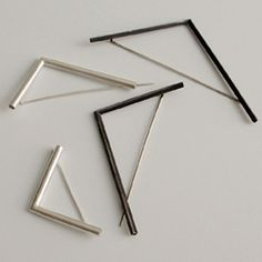 PAULA RODRIGUES-PT,  Brooches: Straight lines 2009  Silver 925