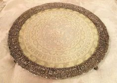 Vintage Victorian  Silver Plate Vanity Tray, Boudoir Tray, Perfume Tray, Dressing Table Tray, Antique Lace Tray by DartmouthHill on Etsy https://www.etsy.com/listing/263590360/vintage-victorian-silver-plate-vanity