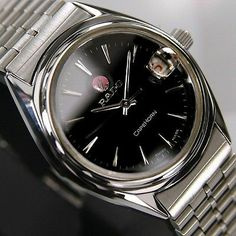 Rado CAPEHORN Mens AUTOMATIC Date Black Dial 25 JEWELS SWISS RARE Antique Watch