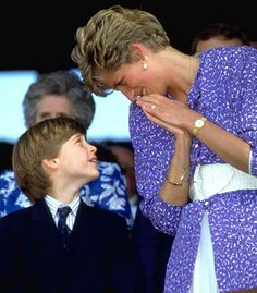 Prince William and his mother Princess Diana