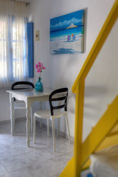 Select between studios, apartments, maisonettes and suites made with special care on every single detail at Marillia Village hotel in Perivolos beach, Santorini Village Hotel, Santorini, Greece, Dining Table, Room, Furniture, Home Decor, Greece Country, Bedroom