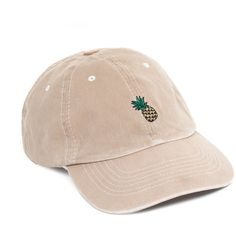 UNIF Pineapple Hat ❤ liked on Polyvore featuring accessories, hats, unif, caps hats, pineapple hat, embroidery hats and embroidered hats